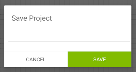 Windows (or browser) dialog box to save your project.